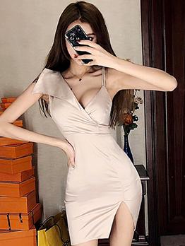 Night Club Irregular Bodycon Dress
