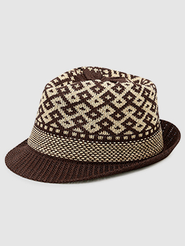 Korean Design Weave Hollow Out Hat