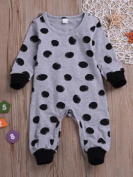 Dots Crew Neck Baby Sleepsuit