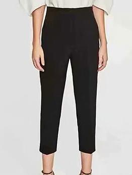 Fashion High Waisted Black Pencil Pants
