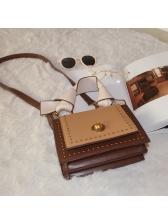 Fashion Contrast Color Square Shoulder Bag