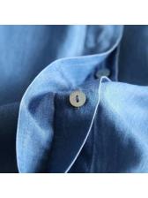 Turndown Collar Pockets Denim Dress