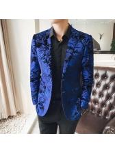 British Style Paisley Loose Blazer For Men