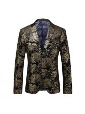 Business Paisley Gold Blazer For Men