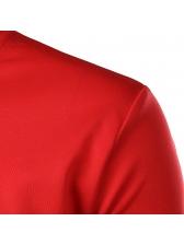 Spring Solid O-Neck Print Pullover Sweatshirt