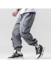 Fashion Pockets Loose Cargo Pants For Men