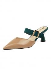 Design Pu Suede Slip On Mules Slippers