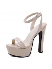 Korean Design Ankle Straps Platform High Heel Sandals