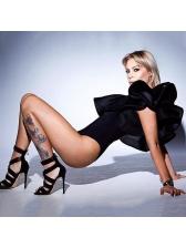 Euro Ruffles Inclined Shoulder Women Bodysuits
