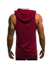 Letter Printing Hooded Fashion Sleeveless Vest