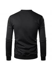 Round Neck Star Printed Sweatshirt For Man