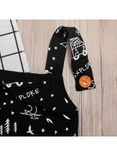 Letter Car Printing Baby Boy Overalls
