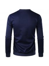 Fashion Pullover Crew Neck Sweatshirt For Man