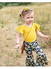Summer Sunflower Ruffles Baby Girl Outfits