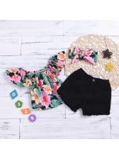 Floral Contrast Color 3 Pieces Outfits