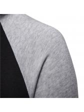 Contrast Color Tie-Wrap Casual Hoodies For Man