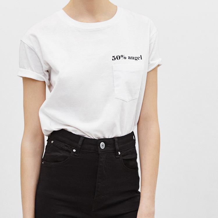 Fashion Printed Short Sleeve Cotton Tee