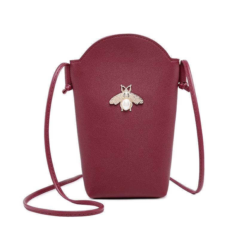 Casual Bee Metal Decor Mini Crossbody Bag