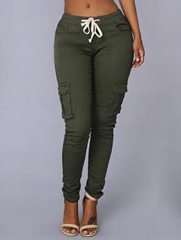 Bandage Skinny Casual Pants