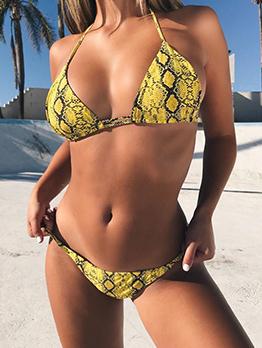 Sexy Snake Printed 2 Piece Bikini Sets