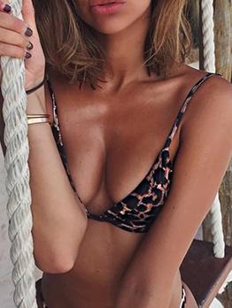 Leopard Print Tie-Wrap Sexy Ladies Swimwear