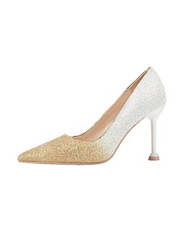 Stylish High Heel Gradient Color Glitter Pumps