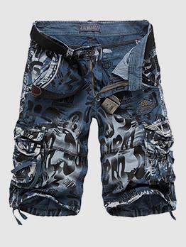 British Style Pocket Belt Man Short Pants