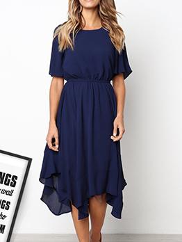 Irregular Smart Waist Women Dresses
