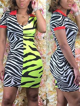 Sexy Zebra Print Bandage Dresses