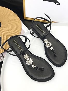 Summer Diamond T-Straps Women Sandals