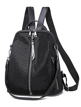 Casual Sequined Mesh Waterproof Travel Backpack
