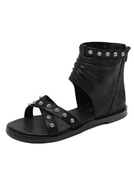 Chic Rivet Cross High Top Womens Sandals