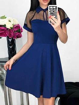Fashion Gauze [Patchwork Solid Dresses