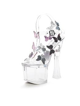 Stylish Butterflies Ankle Straps Platform Clear Sandals