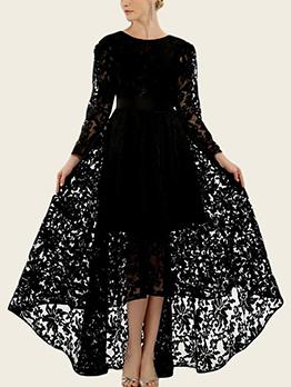 Elegance Shape Asymmetrical Lace Cocktail Dresses