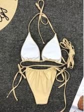 Simple Design Cross Belt Tie-Wrap Mini Bikini