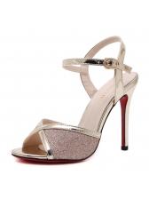 Summer Cross Thin Heel Womens Sandals