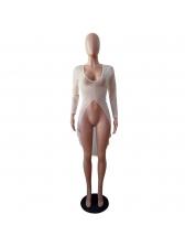 Deep V Neck Asymmetrical Swimsuit Gauze Cover Ups