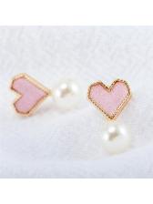 Chic Heart-shaped Pearls Stud Earrings
