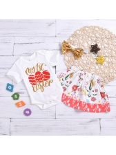 Letter Printed Baby Girl Outfits