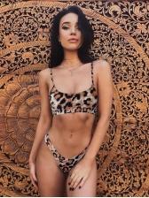 Euro Hot Sale Leopard Print Straps Bikini Sets