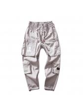 Hot Sale Letter Printed Zip Cargo Pants
