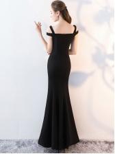 Off Shoulder Fitted Elegant Evening Gowns