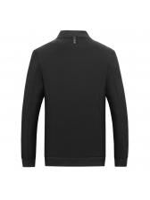 Stand Collar Simple Design Zipper Up Man Coat