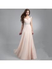 Fashion V Neck Floor Length Sequined Evening Dress