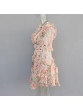 Sexy Plunging V Neck Blush Short Dresses