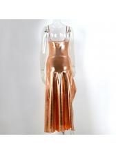 Sleeveless Bodysuit With Asymmetrical Split Hem Skirt