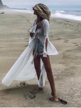 Sexy V Neck Beach Split Sleeves Maxi Dresses