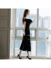 Sexy Sheer Ruffle Bodycon Dress