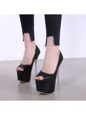 Spring Peep-Toe Stiletto Heels Platform Pumps